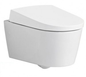 Geberit AquaClean Sela Wall-Hung WC with bidet seat n Cover 146 147 11 1