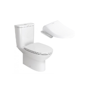 Neo Modern CL26305 Close Coupled Toilet with Pristine E-Bidet