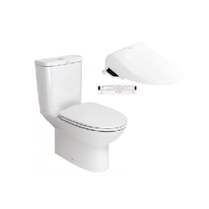 Neo Modern CL26305 Close Coupled Toilet with Pristine Star E-Bidet