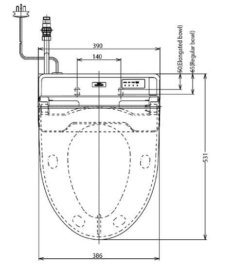 TOTO-TCF6431Z-Washlet Specification 1